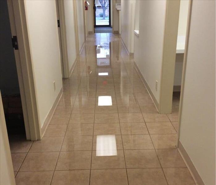 Water Damage in Medical Facility Before