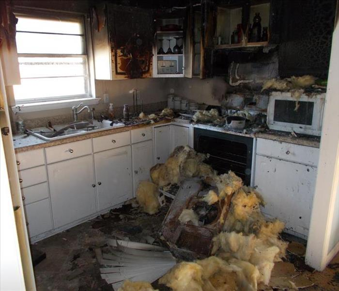 kitchen fire in Tool, TX Before